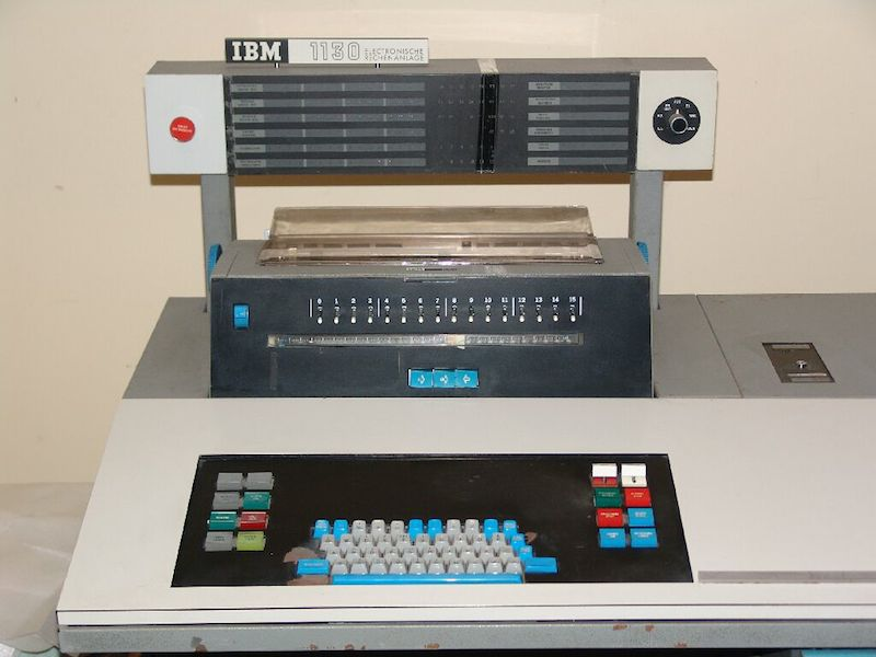 The console of an IBM 1130 computer