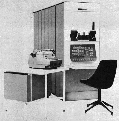 The PDP-1 occupied four refrigerator-sized cabinets